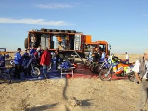 Rallye Service auf der Rallye Dakar 2003