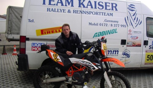 Thorsten Kaiser gewinnt die Tuareg Rallye 2009 mit seiner KTM 690R