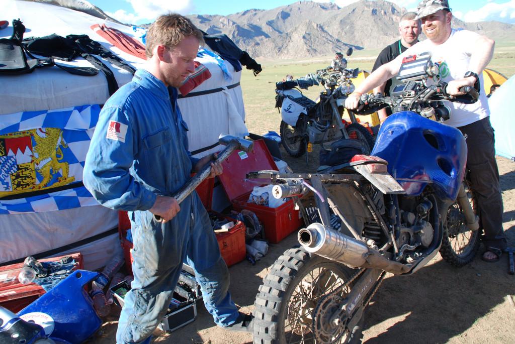Rallye Service in der Mongolei