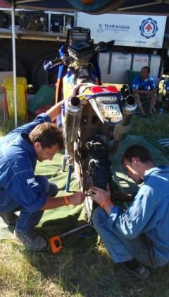 Rallye Service auf der Rallye Dakar 2009